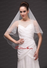 Embroidery Tulle Beautiful Bridal Veils For Wedding HM8805FOR