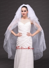 Embroidery With Tulle Bridal Veil On Sale RR091419FOR
