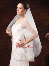 Fairy Embroidery Organza Wedding Veil RR091306FOR