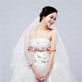 Fairy Two-Tier with Lace Angle Cut Edg Wedding Veils ACCWEIL003FOR