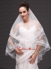 Fashion Best Wedding Veils With Appliques Hot Saling HM2088FOR