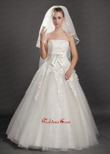 Four Tier Tulle Ribbon Edge Wedding Veil On Sale UNION29T06FOR