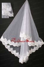 Graceful Lace Organza Bridal Veil RR111617FOR
