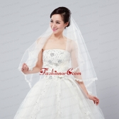 Graceful One-Tier Lace Edge Elbow Veils for Wedding Party ACCWEIL002FOR