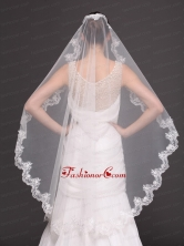 Hot Selling Tulle With Appliques One Tier Wedding Veil HM8624FOR