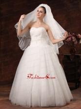 Inspired Layer Ribbon Edge Organza Bridal Veil RR091301FOR