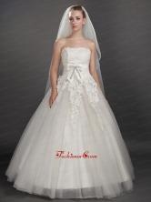 Inspired Layer Ribbon Edge Organza Bridal Veil UNION29T00FOR