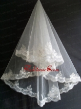 Lace Appliques Tulle Beautiful Wedding Veil RR111601FOR