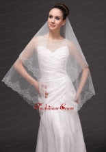 Lace Appliques Tulle Fashionable Bridal Veils For Wedding HM8804FOR
