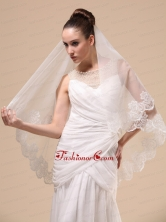 Lace Appliques Tulle Graceful Wedding Veil RR091404FOR