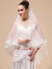 Lace Appliques Tulle Graceful Wedding Veil RR091406FOR