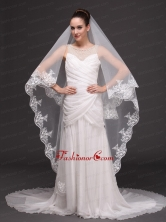 Lace Appliques Tulle Graceful Wedding Veil RR091408FOR