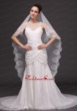 Lace Popular Tulle Bridal Veil For Wedding HM8812FOR