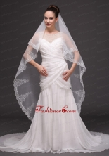 Lace Tulle Classic Bridal Veil For Wedding HM8809FOR