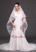 Lace Tulle Fashionable Bridal Veil For Wedding HM8813FOR
