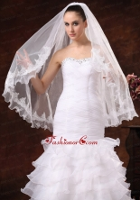 Lace Tulle Graceful Bridal Veils For Wedding HM8831FOR