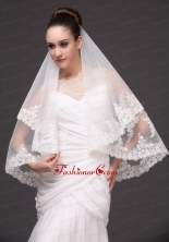 Lace Tulle Popular Bridal Veils For Wedding HM8679FOR