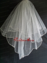 Little Pearl Decorate Tulle Wedding Veil RR111607FOR