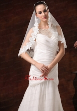 Modest Lace Tulle Bridal Veils For Wedding HM8836FOR