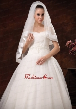 Modest Tulle And Taffeta Bridal Veil For Wedding HM8825FOR