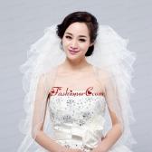 Multi-Tier Pencil Edge Elbow Bridal Veils Whites Bridal Veils ACCWEIL033FOR