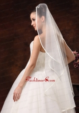 One Tier Organza Fingertip Wedding Veil HM8620FOR