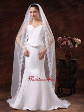 One Tier Tulle Cathedral Veil For Wedding HM8230FOR