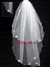 Organza Appliques Romantic Bridal Veil RR111625FOR