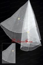 Organza Imitation Pearls Bridal Veil RR111624FOR