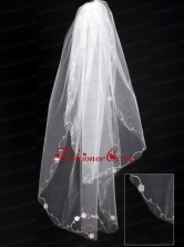 Organza Scalloped Edge Bridal Veil RR111622FOR