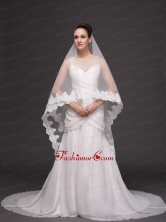 Royal Discount Organza Bridal Veil For Wedding RR091409FOR