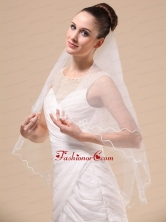 Royal Discount Tulle Ribbon Edge Bridal Veil For Wedding RR091405FOR