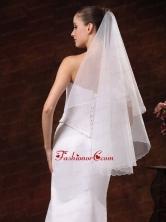 Simple Organza Bridal  Wedding Veil RR091305FOR