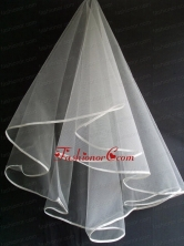 Simple Ribbon Edge Tulle Wedding Veil RR111605FOR