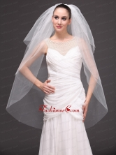 Three Tier Tulle Drop Veil For Wedding On Sale HM2023FOR