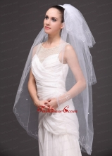 Three Tier Tulle With Embroidery Bridal Veil RR091418FOR