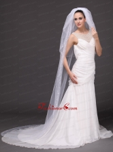 Three Tier and Embroidery Bridal Veils For Wedding HM8827FOR