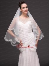 Tow Tier Tulle Wedding Veil On Sale HM2003FOR