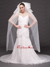 Tulle Four Tier Bridal Veil For Wedding HM8823FOR
