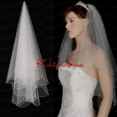 Two Layer Tulle With Pearls Fingertip Veil ACCWEIL04FOR