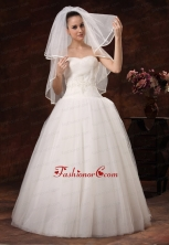 Two Layers Tulle Elbow Length Popular Wedding Veil HM2018FOR