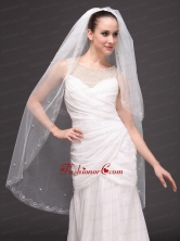 Two Tier Fingertip Wedding Bridal Veil For Wedding Party HM8844FOR