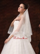 Two Tier Pretty Organza Veil For Wedding HM8801FOR