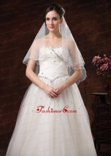 Two Tier Tulle Bridal Veil On Sale HM1.5M-2FOR