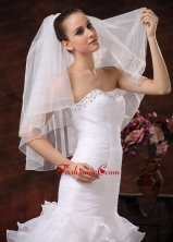 Two Tier Tulle Bridal Veil On Sale HM1686FOR