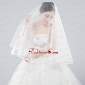 Two-Tier Tulle Bridal Veils with Ribbon Edge ACCWEIL001FOR