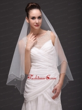 Two Tier Tulle Drop Veil For Wedding HM1900FOR