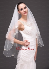 Two Tier Tulle Graceful Wedding Veil RR091414FOR