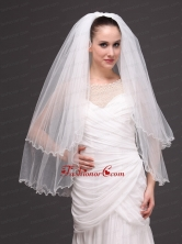 Two Tier Tulle White Ribbon Edge For Bridal Veil HM2297FOR