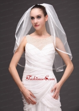 Two Tier Tulle With Ribbon Edge Wedding Veil RR091417FOR